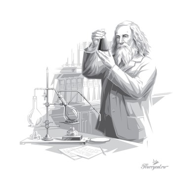 Менделеев и его перегонный куб